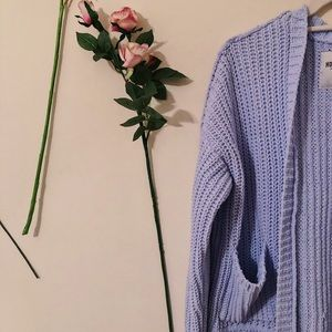 Periwinkle Blue Knitted Cardigan